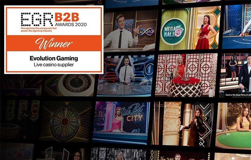 egr b2b awards 2020 evolution gaming