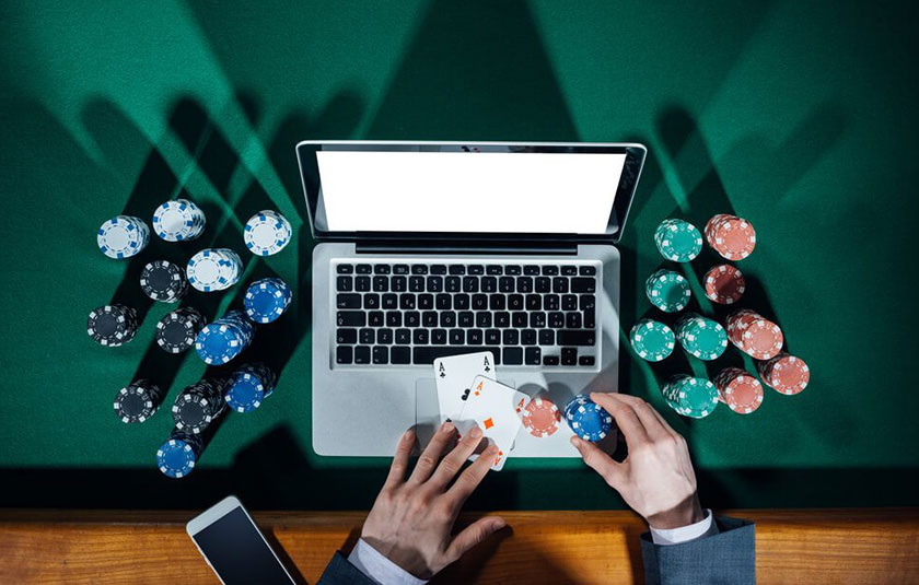 Casino Chips and Computer